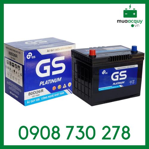 Bình ắc quy GS 70Ah khô - MF 80D26R