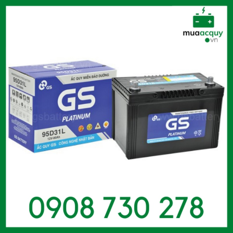 Ắc quy GS MF 95D31L (12V - 80Ah)