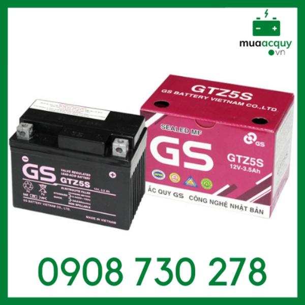 Bình ắc quy GS GTZ5S (12V - 3.5Ah)