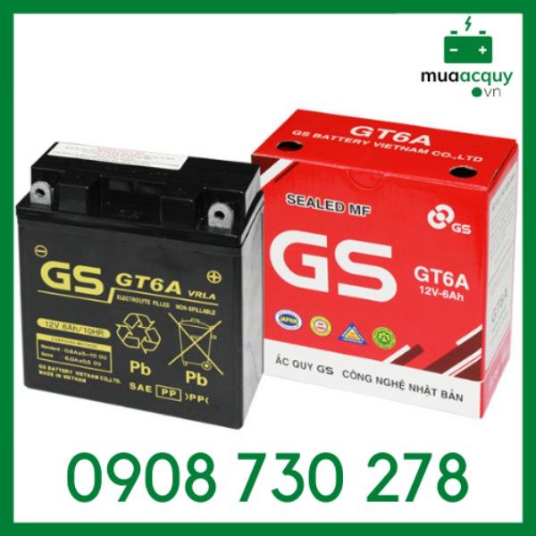 Bình ắc quy GS GT6A (12V - 6Ah)