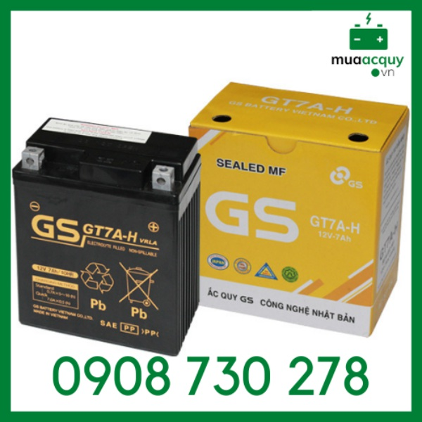 Bình ắc quy GS GT7A-H (12V - 7Ah)
