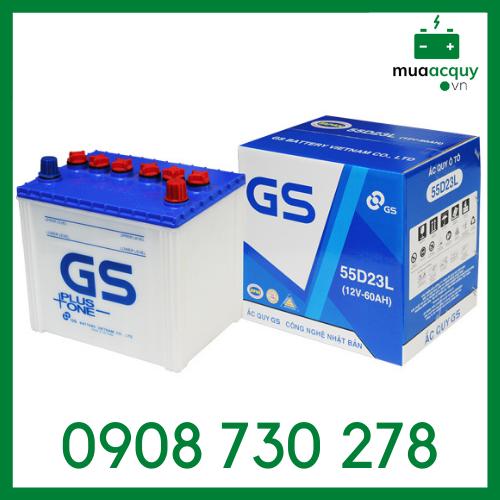 Ắc quy nước GS 55D23L (12V - 60Ah)